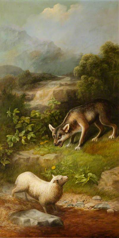 The Wolf and the Lamb by John Bucknell Russell | Oil Painting | WahooArt.com