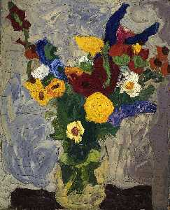 William Henry Johnson - Still Life Bouquet