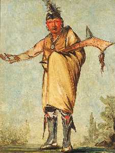 George Catlin - Náw káw, Wood, Former Chief of the Tribe