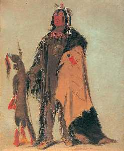 George Catlin - In ne ó cose, Buffalo's Child, a Warrior