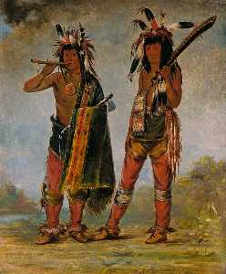George Catlin - Two Young Men