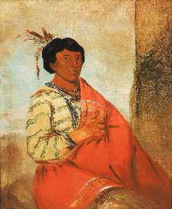 George Catlin - Gaw záw que dung, He Who Halloes