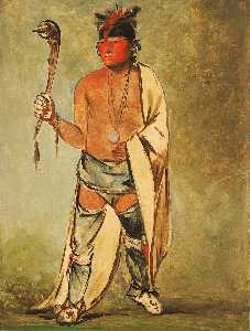 George Catlin - Naugh háigh hee kaw, He Who Moistens the Wood