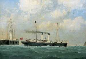 George Mears - 'Mary Beatrice' Leaving Boulogne