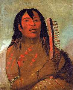 George Catlin - Tcha dés sa ko máh pee, Bear's Child