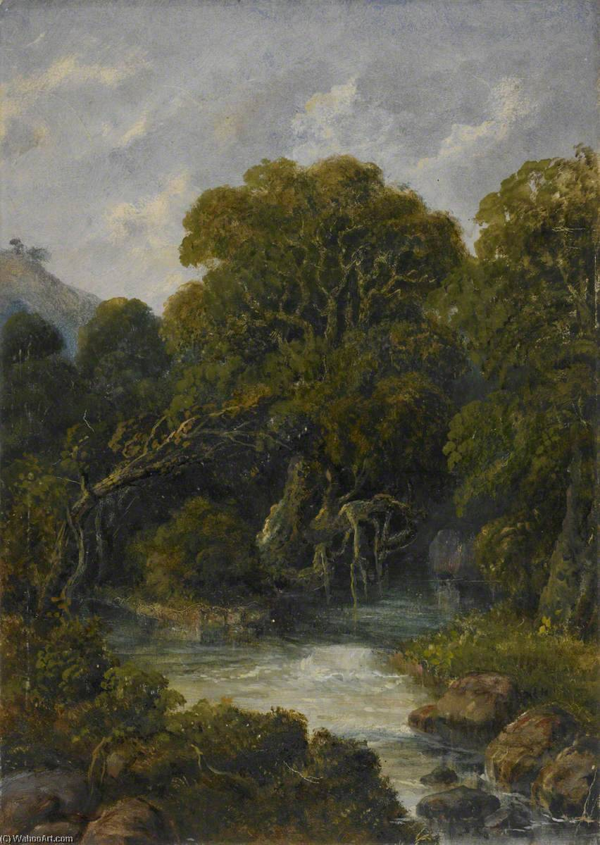Mountain Stream in the Western Ghats, Oil by William Robert Houghton