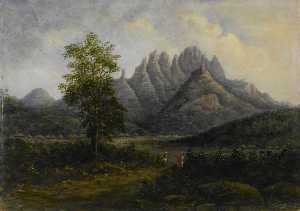William Robert Houghton - Mountainous Landscape in the Western Ghats