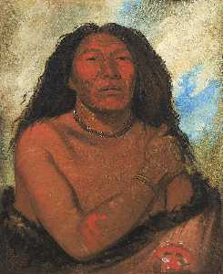 George Catlin - Duhk gits o ó see, Red Bear, a Distinguished Warrior