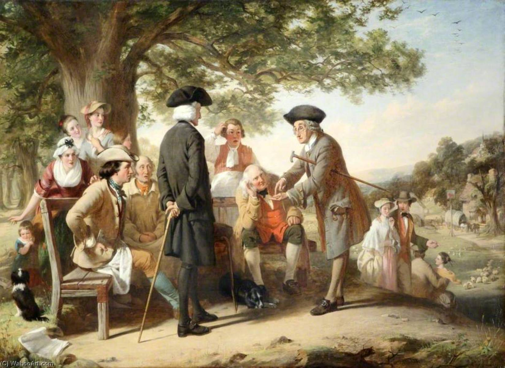 The Village Schoolmaster, 1849 by Thomas Brooks | Oil Painting | WahooArt.com