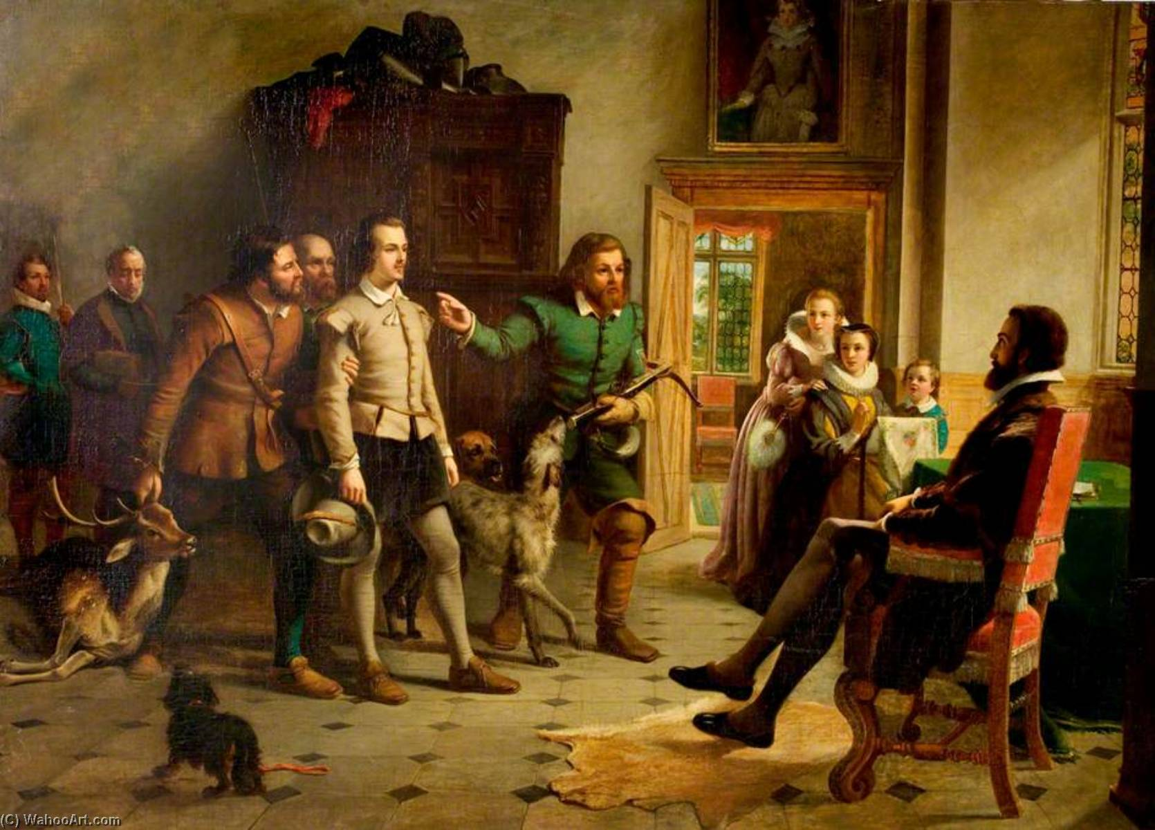 Shakespeare before Sir Thomas Lucy, 1857 by Thomas Brooks | Museum Quality Reproductions | WahooArt.com