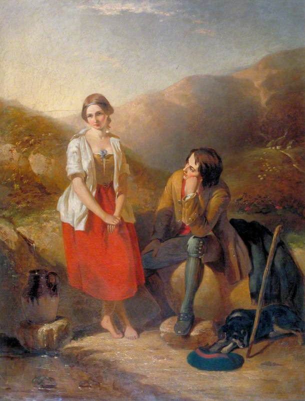 The Dawn of Love, 1846 by Thomas Brooks | Painting Copy | WahooArt.com