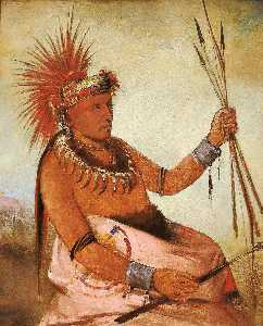 George Catlin - Wos cóm mun, Busy Man, a Brave
