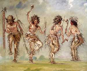 George Catlin - Four Dancers