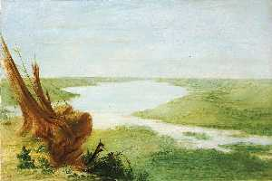 George Catlin - View on Lake St. Croix, Upper Mississippi
