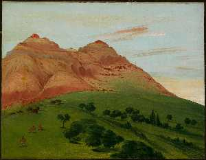 George Catlin - View in the Grand Detour, 1900 Miles above St. Louis