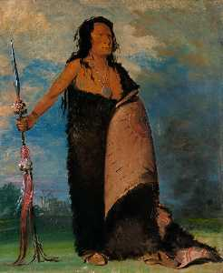George Catlin - Shoo de gá cha, The Smoke, Chief of the Tribe