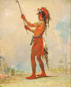 George Catlin - We chúsh ta dóo ta, Red Man, a Distinguished Ball Player