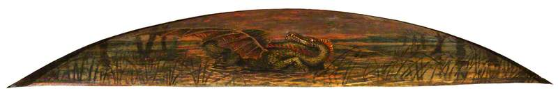 The Theodore Watts Dunton Cabinet The Dragon, 1898 by Henry Treffry Dunn | Oil Painting | WahooArt.com