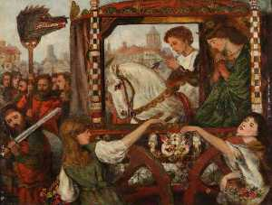 Henry Treffry Dunn - The Theodore Watts Dunton Cabinet The Return of the Princess
