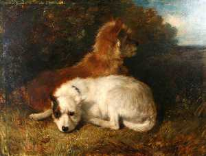 William Edward Millner - Two Dogs