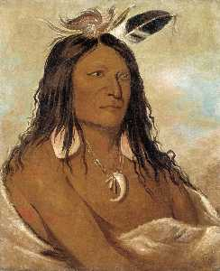 George Catlin - Eé shah kó nee, Bow and Quiver, First Chief of the Tribe