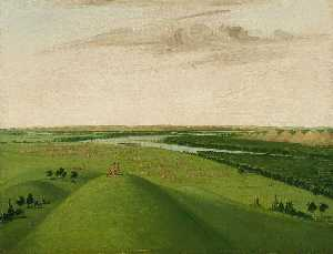 George Catlin - Fort Union, Mouth of the Yellowstone River, 2000 Miles above St. Louis