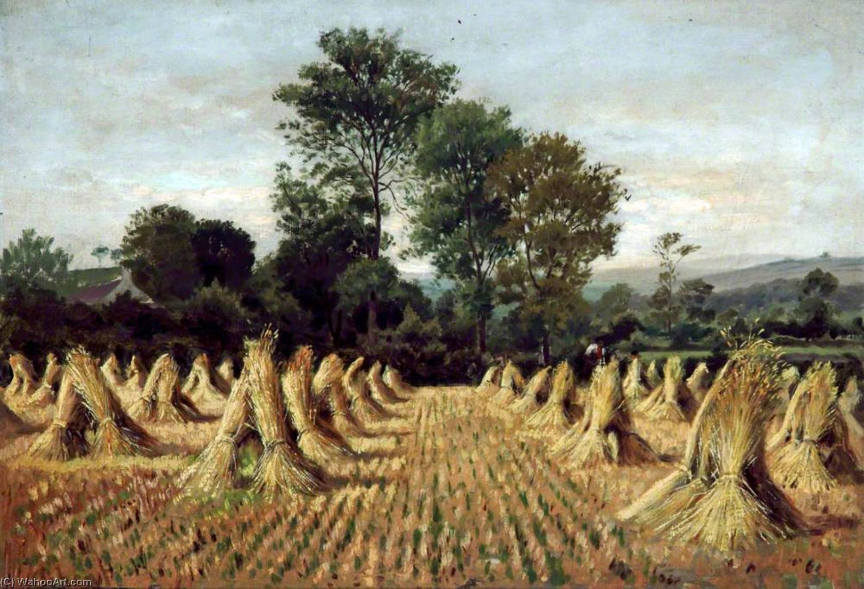 Cornfield at Bidston, Wirral, Oil On Canvas by Peter Ghent