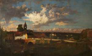 Robert Noble - East Linton at Dusk