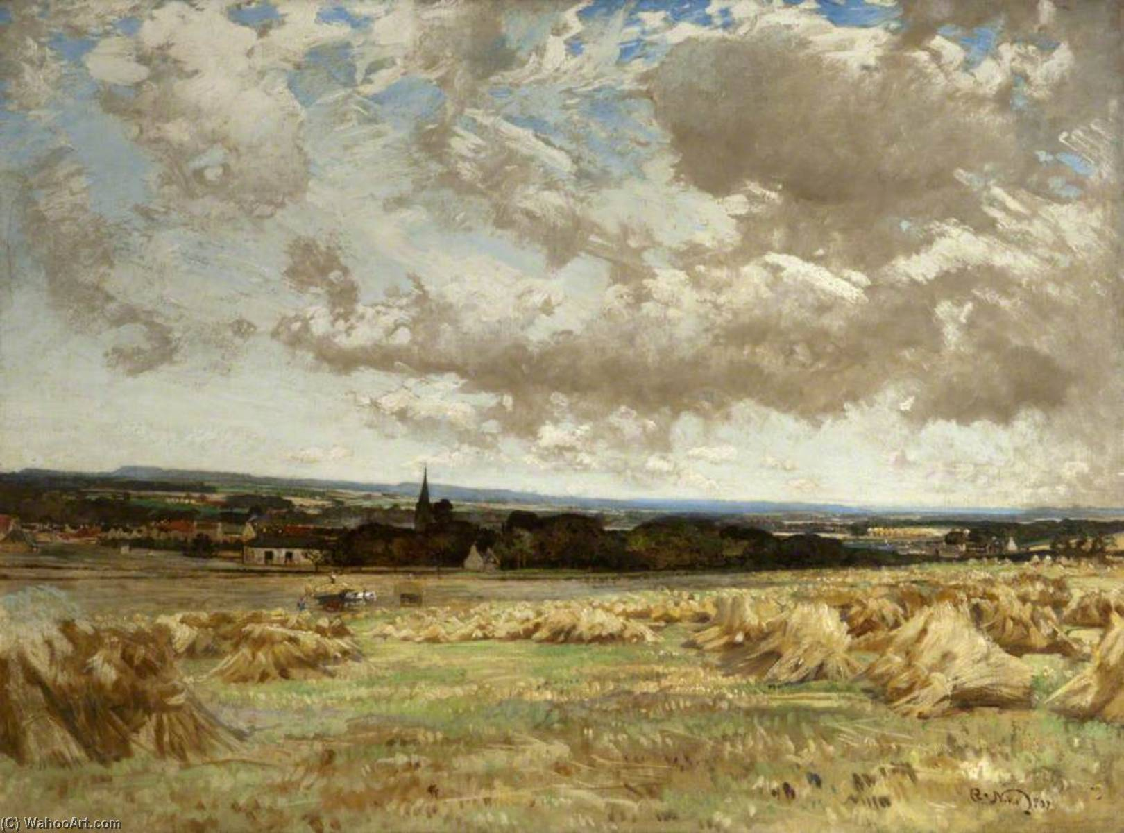 View of East Linton, 1907 by Robert Noble | Reproductions Robert Noble | WahooArt.com