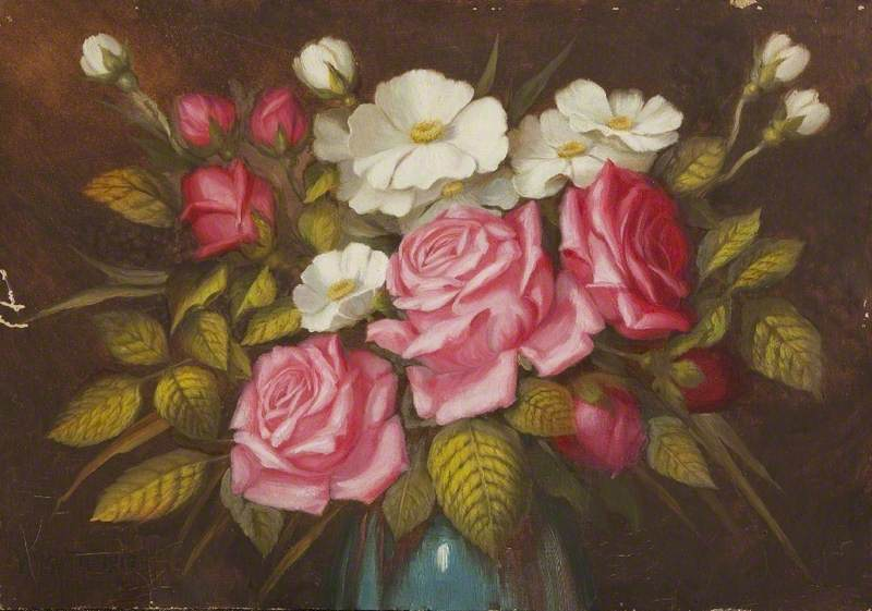 Still Life, Roses, 1910 by William Richard Bunting | Famous Paintings Reproductions | WahooArt.com