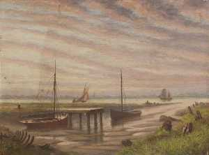 William Richard Bunting - The Last Phase of Grimsby-s Old Harbour Entrance, Lincolnshire