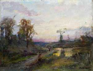 William Gibbes Mackenzie - Evening Landscape