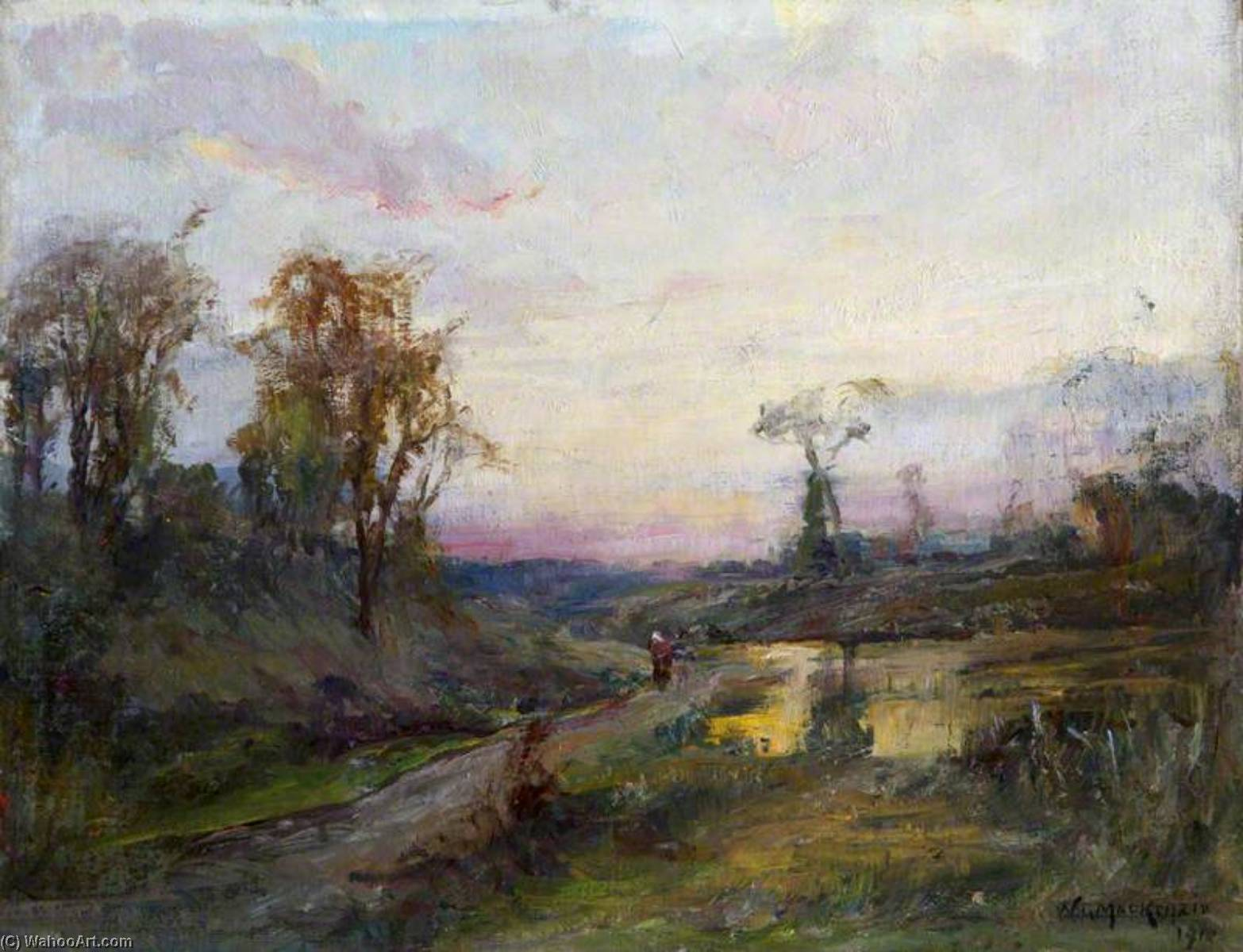 Order Art Reproductions | Evening Landscape, 1910 by William Gibbes Mackenzie | WahooArt.com
