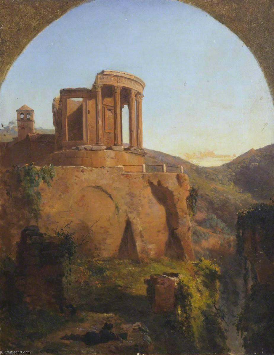 Temple of the Sibilla, 1849 by Thomas Stuart Smith | Famous Paintings Reproductions | WahooArt.com