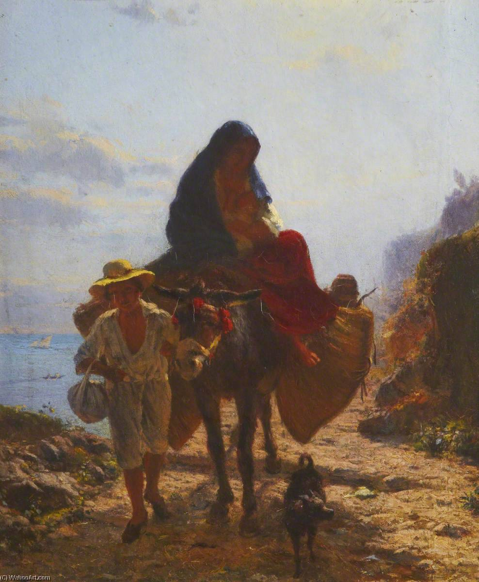 Returning from Market, 1857 by Thomas Stuart Smith | WahooArt.com