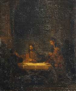 Thomas Stuart Smith - Supper at Emmaus (after Rembrandt van Rijn)