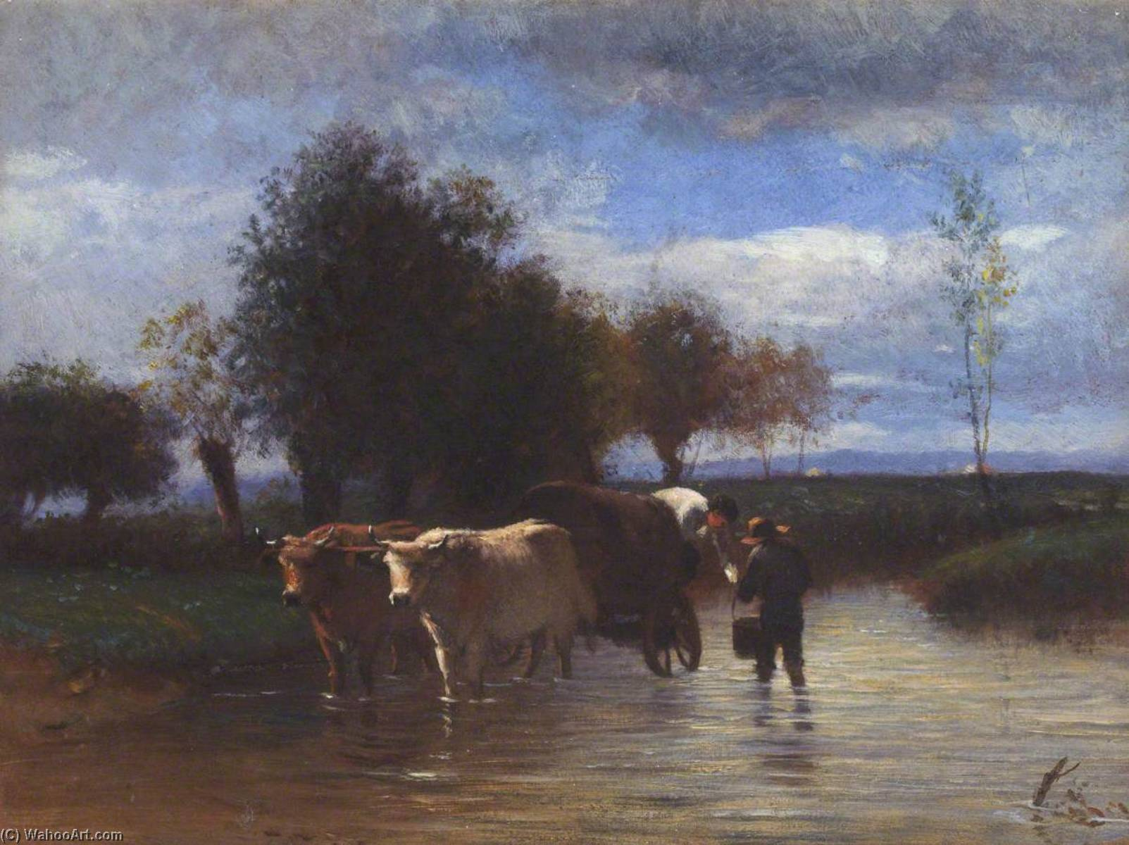 The Water Cart, Oil On Canvas by Thomas Stuart Smith