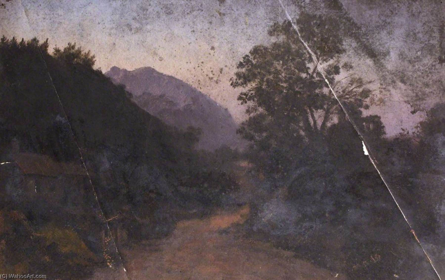 Landscape at Dusk, Oil by Thomas Stuart Smith