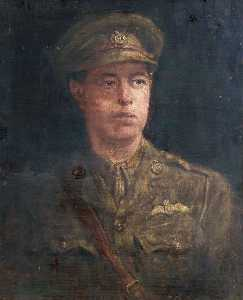 Henry Jamyn Brooks - Portrait of a Young Royal Flying Corps Officer