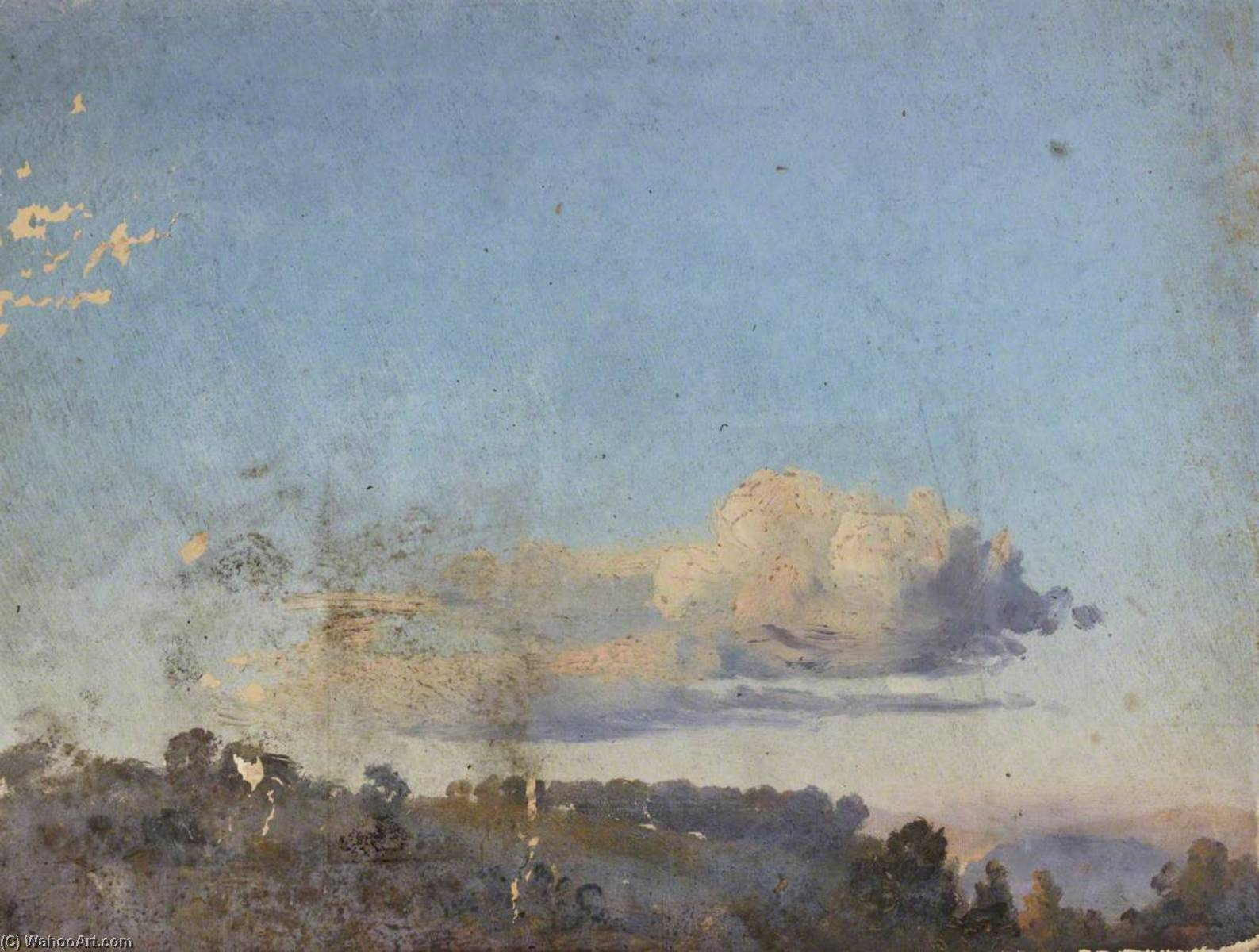 Forest with Clouds, Oil by Thomas Stuart Smith