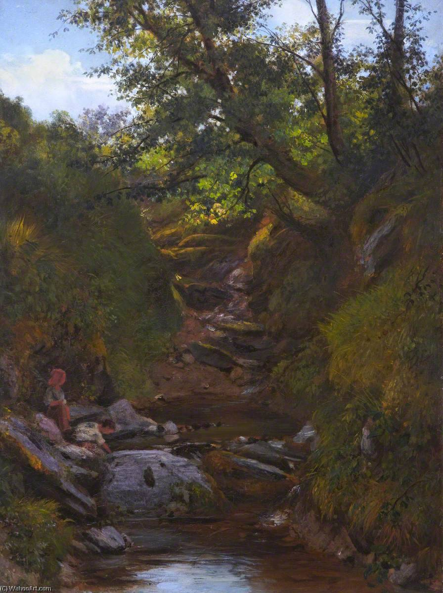 The Brook, Oil On Canvas by Thomas Stuart Smith