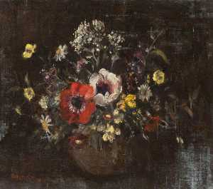 Emily Murray Paterson - Anemones and Wild Flowers