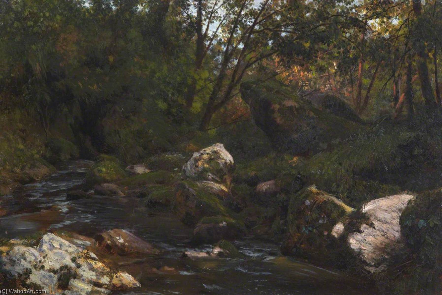 A Derbyshire Brook, Oil On Canvas by Thomas Stuart Smith
