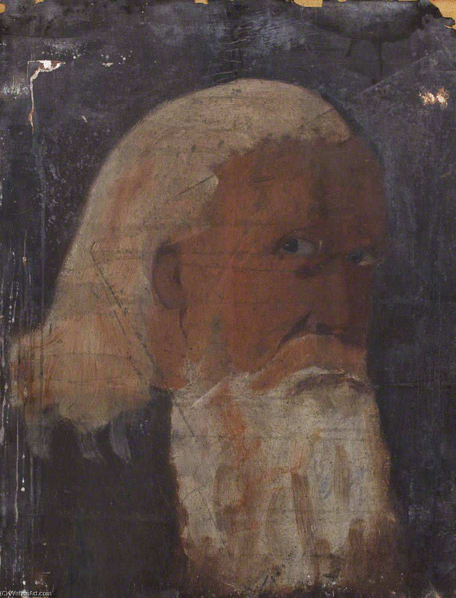 Portrait of an Old Man, Oil On Canvas by Thomas Stuart Smith