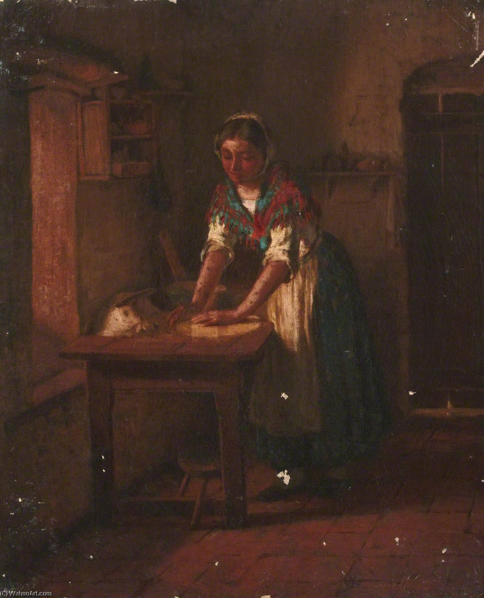 Woman Kneading Dough by Thomas Stuart Smith | WahooArt.com