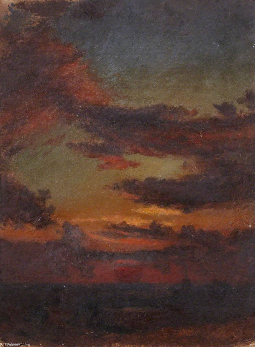 Sunset over the Water by Thomas Stuart Smith | Painting Copy | WahooArt.com