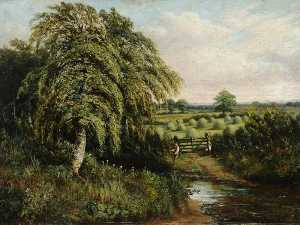 Benjamin Hold - Landscape of Cawthorne Village, South Yorkshire