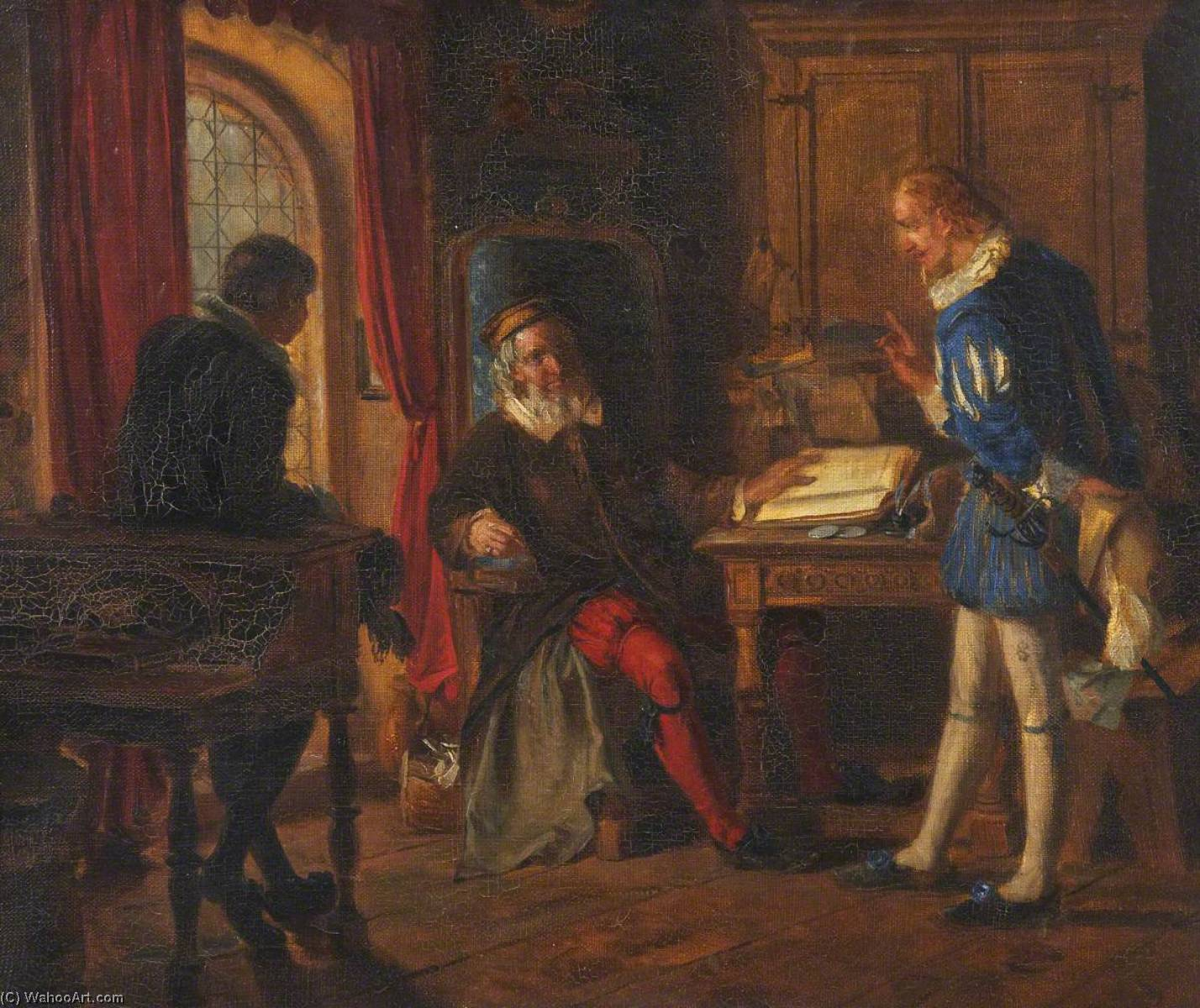 Scene from Gil Blas, Oil On Canvas by Thomas Stuart Smith