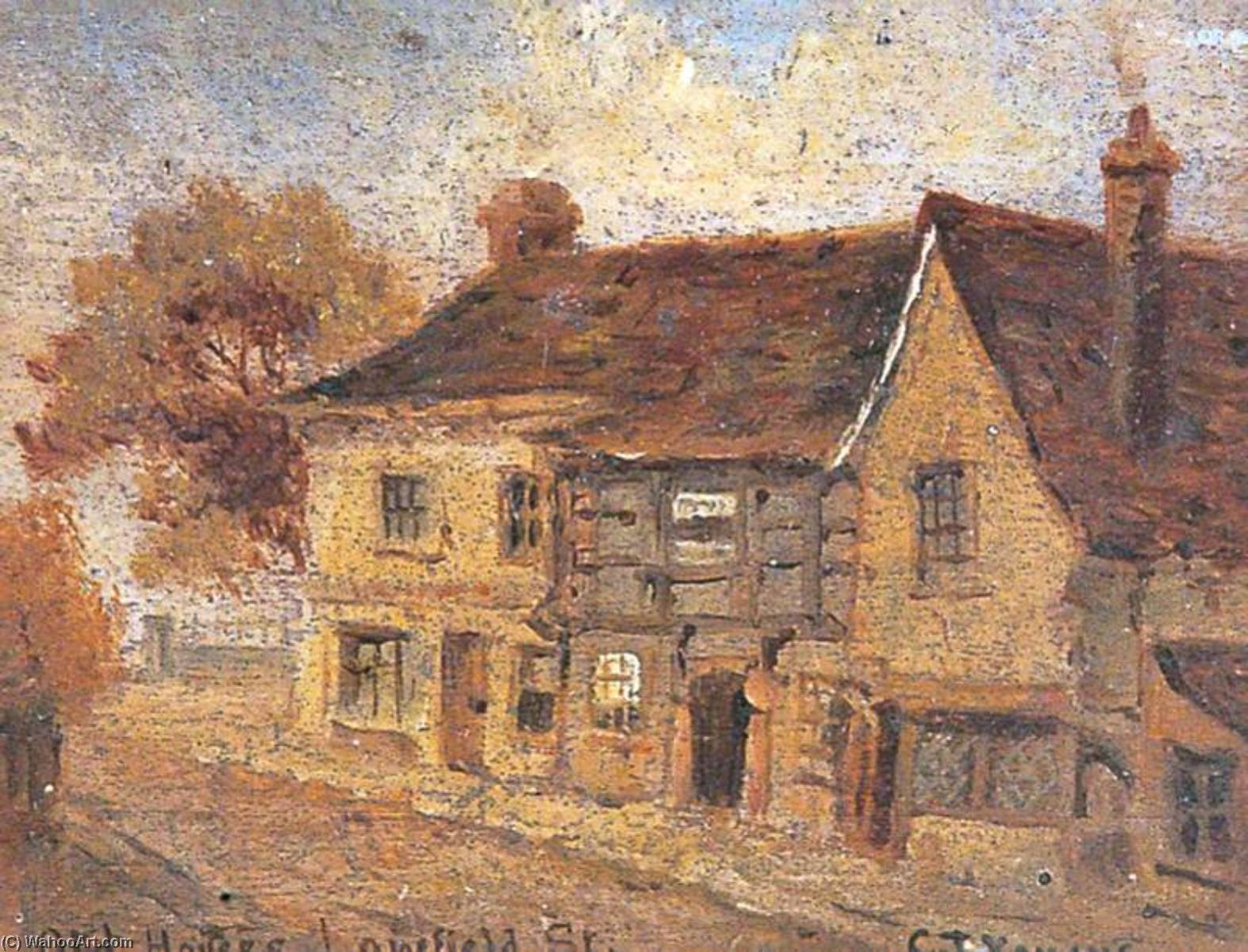 Lowfield Street, Dartford, Kent, Oil by Clement T Youens