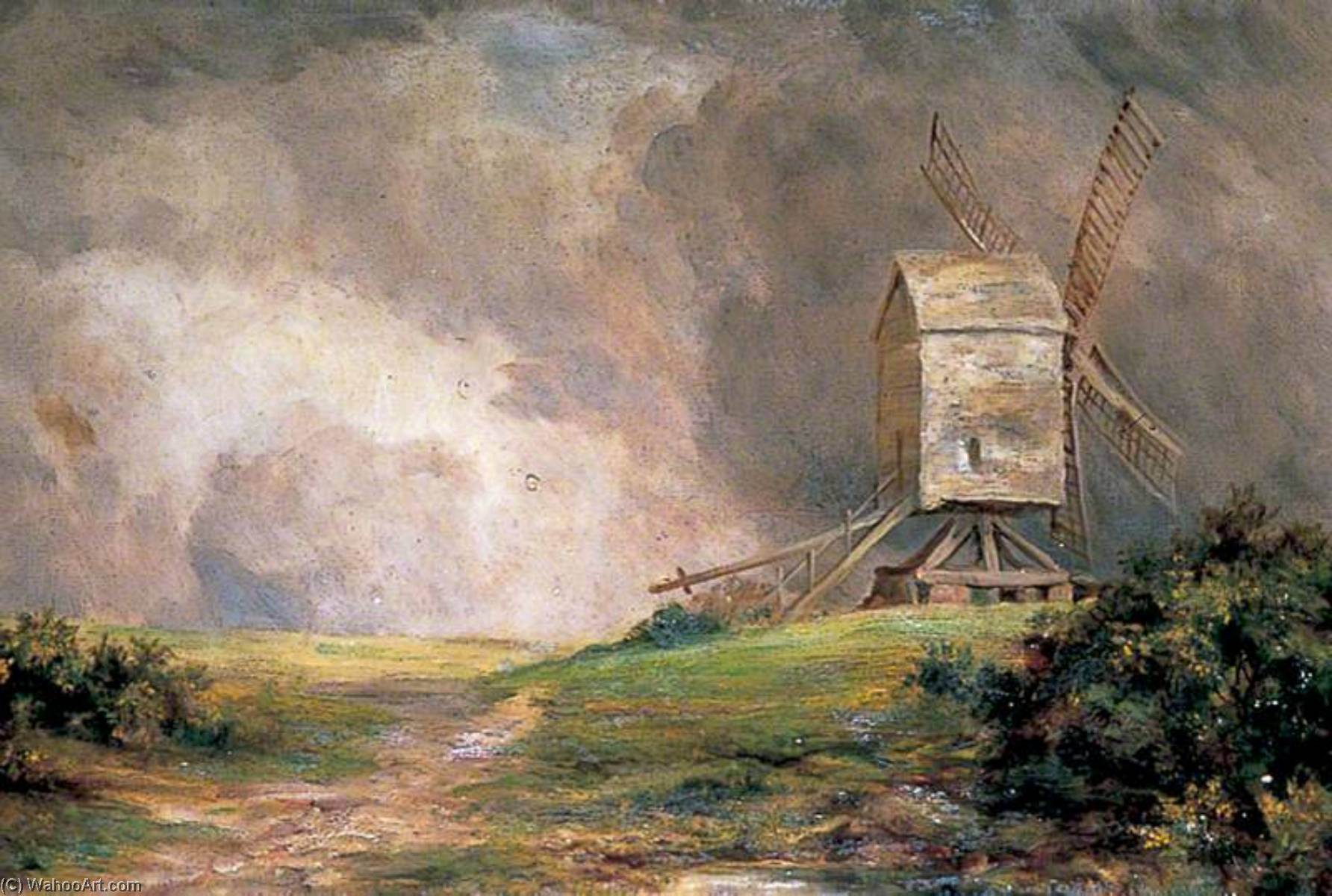 The Windmill, the Brent, Oil by Clement T Youens